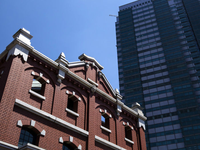 Architecture Brick Building Building Exterior Built Structure City Commercial Centre  Connection Contrast Day Ebisu Low Angle View No People Outdoors Place In Tokyo Shibuya Shopping Arcade Sky Skyscraper Tokyo Tokyo Metropolitan Museum Of Photography Tokyo Museum Window Yebisu Garden Place
