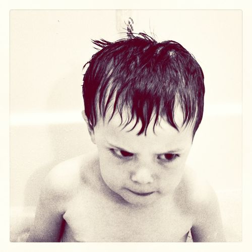 MadFace Bath Time Kids Black & White The Human Condition
