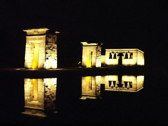 After sunset... No People Low Angle View Night Architecture Built Structure Madrid, España Debod's Temple