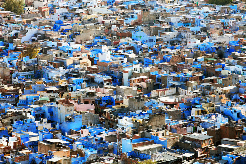Full frame high angle view of jodhpur city