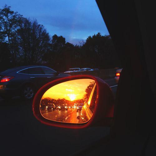 Illuminated Sunset Nature Sky Dusk Orange Color