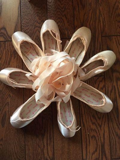 お昼の前にゴムつけ ポアント ポワント トウシューズ Shoes がんばってください もうすぐコンクール シルビア Sylvia 20センチ
