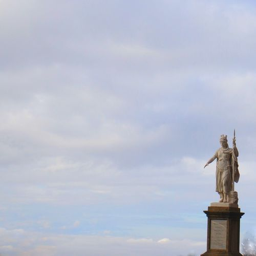 Art And Craft Europe Human Representation Italy Low Angle View San Marino San Marino Country.... Sculpture Sky Statue
