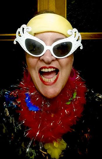 Big Glasses Carmem Miranda Look Carnaval Carnival Spirit Close-up Funny Picture Funny Women Hapiness★ Hapinness Multi Colored Portrait White Cat Glasses The Portraitist - 2018 EyeEm Awards