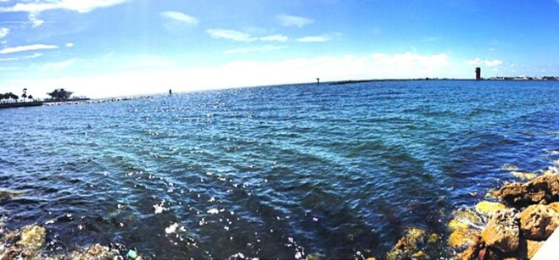 Ocean View Ocean Blue Sky Bluewater Sea And Sky Enjoying Life On The Beach Blue