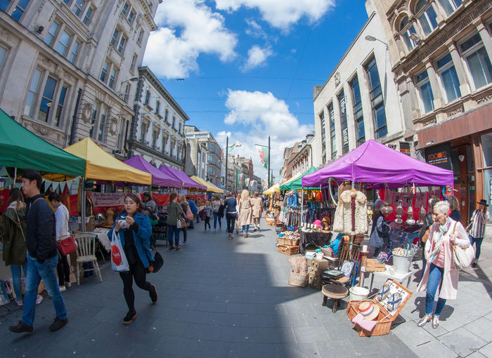 City City Life Day Diminishing Perspective Lifestyles Live Love Shop Market Market Stall Multi Colored Outdoors Retail  Sky Street