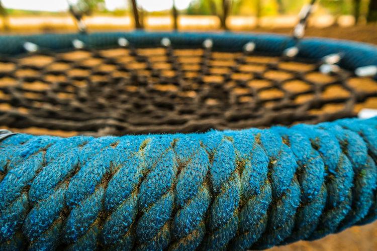 Full frame shot of rope at playground