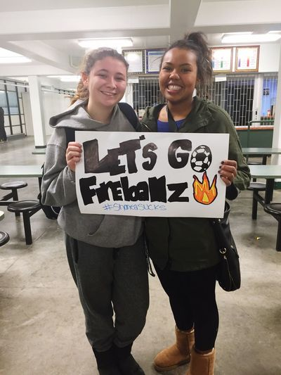 Congratz on the big win my fireballz 👏🏽🔥⚽️ shaneas been begging me to come to a game for years now, so I thought it was time I'd make an appearance. Yay Rem Yay Jane Yay Michelle Yay Girls Shanea Sucks