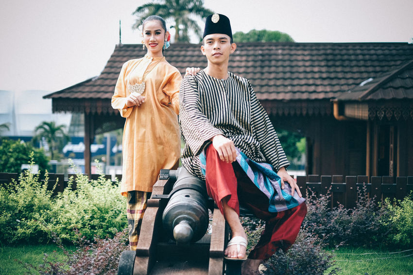 Adult Adults Only City Females Full Length Human Body Part Husband Malaysia Males  Men Mid Adult Old-fashioned Outdoors People Portrait Real People Togetherness Traditional Traditional Clothing Traditional Costumes Two People Wife Women Young Women My Year My View