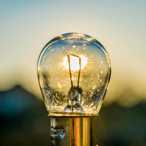 Bulb Close-up Day Electricity  Filament Illuminated Light Bulb Lighting Equipment No People Outdoors Sky