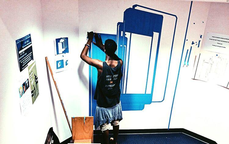 Tape Drawings Art Graphic Design Mural Art Drawing Process Drawing Interior Design Design