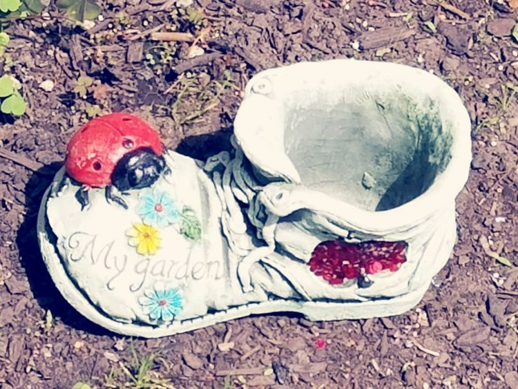 Shoe Garden Decor Close-up Outdoors Day No People