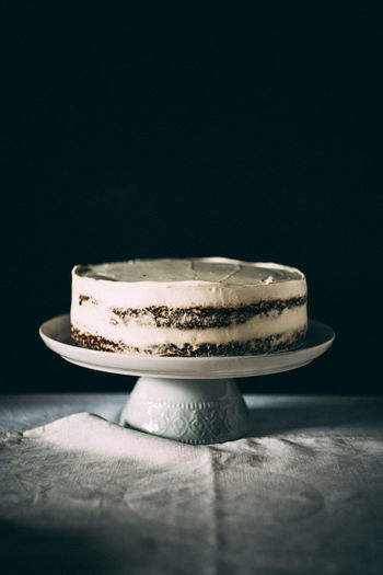 Black Background Cake Carrot Cake Close-up Day Dessert Food Food And Drink Freshness Indoors  Indulgence No People Plate Ready-to-eat Sweet Food Table Temptation