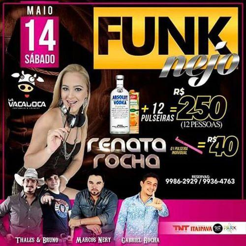 Diz aí se SÁBADO tem como pensar em outra coisa que não seja no FUNKNEJO com a RENATA ROCHA 😍👯😱 chega logoooo! nome na lista 9986 2929 Funknejo Perconada SóVem Sabadotevejonavacaloca Curta 👇 Acre Fest Eventos Siga 👉 @acrefesteventos Drink Emusic Dj Party Music Fun Love Saturday Kids Friends Happy Norte Brasil Acre Riobranco Estado