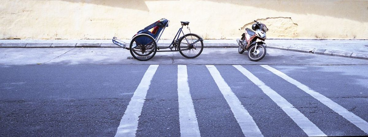 Old vs New Analog Analogue Photography ArtWork Film Photography Filmisnotdead Minimalist Traditional Transportation Transportation Trishaw Vietnam Xpan