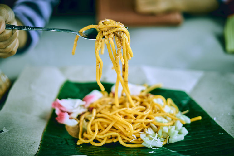 Delicious asian noodle streed food
