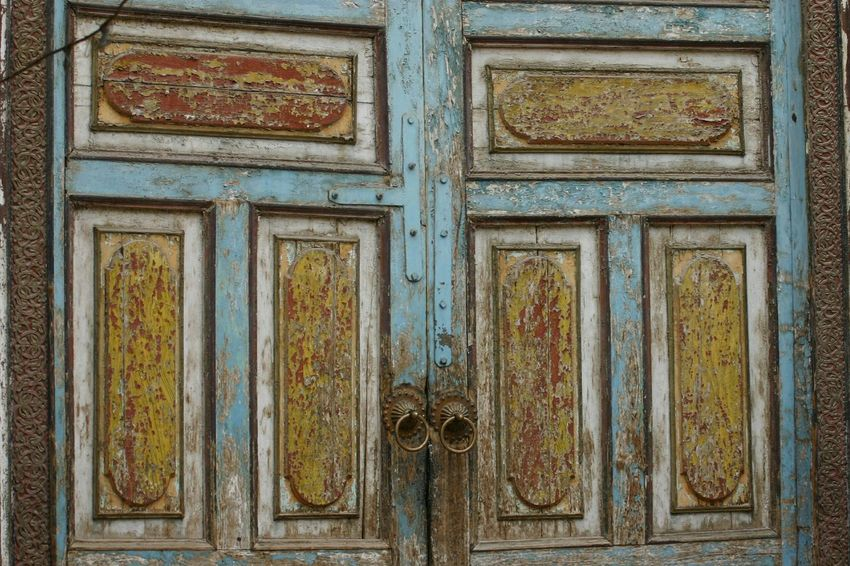 Door Design Art And Craft Wood - Material Close-up History Façade Worn Out & Wonderful  Scratched And Cracked Wood