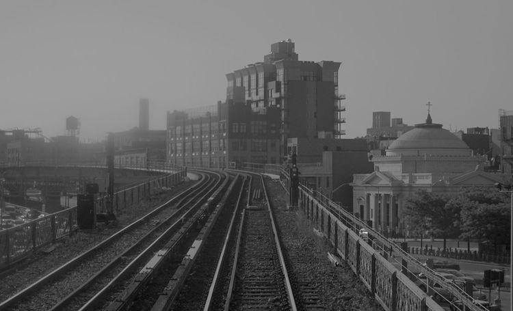 Old New York Subway J Train Williamsburg Blackandwhite