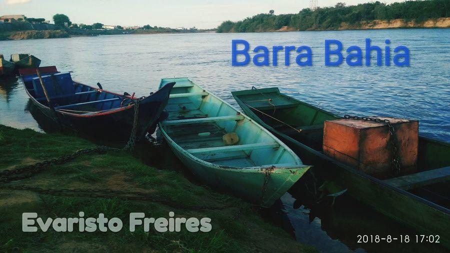 Brasil BARRA Bahia Rio Sao Francisco Río Grande Barco De Pesca Water Beach Communication Sea Harbor Text Western Script Close-up