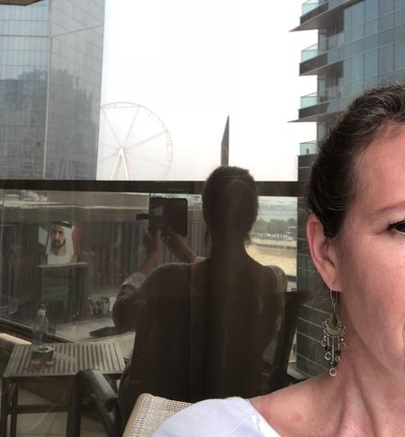 Self Portrait Around The World Experimental Reflection Dubai Real People Lifestyles Window Built Structure Women Day Architecture Building Exterior City People
