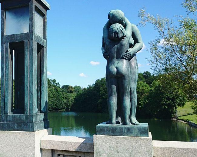 Gustav Vigeland Water City Sculpture Statue Tree Representing Art And Craft Sky Architecture Sculpted Human Representation Fine Art Statue Pedestal