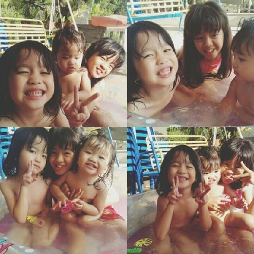 Swimming pool babies AlyAly :) HappySaturday Weekendactivity Homedad Daughter