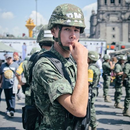 EyeEm Selects Military Army Soldier Military Uniform Cdmx Photography Mexico City Street Photography Ciudad De México Army Helmet Army Patriotism Armed Forces Headwear Uniform Camouflage Clothing Helmet Focus On Foreground Day Portrait War Men Politics Outdoors One Person