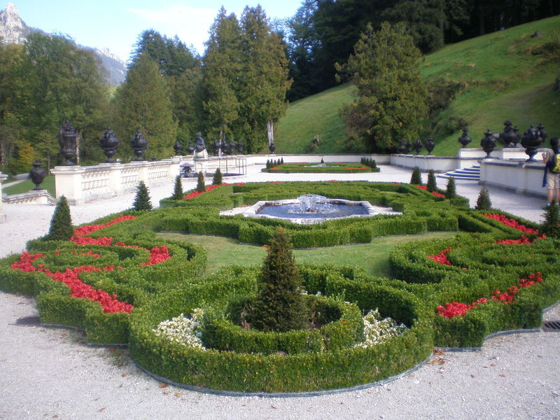 Tour Bavaria, Ettal - Castle Linderhof... An Eye For Travel Castle Castle Park Beauty In Nature Curve Day Footpath Grass Green Color Growth Nature No People Outdoors Park Plant Sky Topiary Tranquility Tree