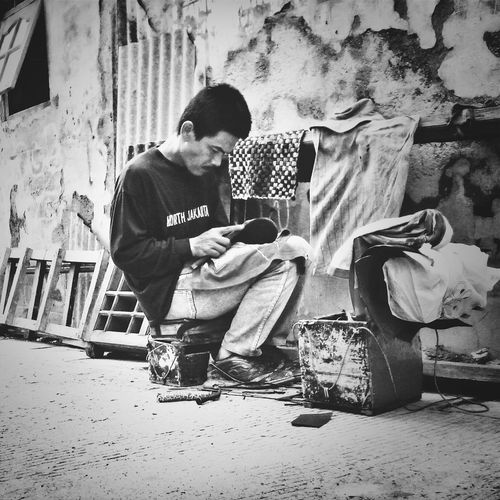 bekerja Bw_indonesia Istrie Fotodroids Street Photography