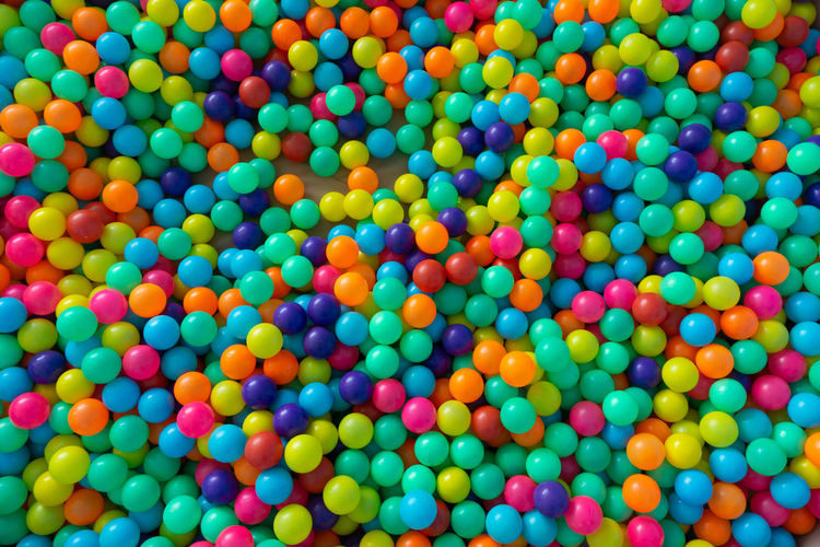 Multi Colored Large Group Of Objects Full Frame Abundance Backgrounds No People Variation Still Life Choice Ball Indoors  Sweet Food High Angle View Sweet Indulgence Sphere Candy Food Unhealthy Eating Pattern Temptation Kid Play Playground