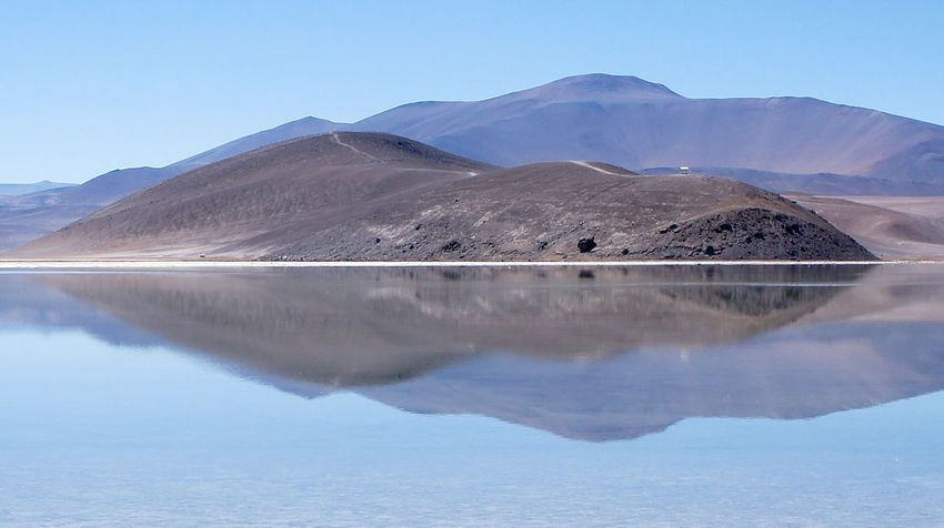 Atacama / Chile 🇨🇱 Laguna Santa Rosa Mountain Tranquil Scene Beauty In Nature Nature Scenics Tranquility Reflection Mountain Range Day Clear Sky Outdoors No People Lake Sky Water Landscape Blue Salt - Mineral