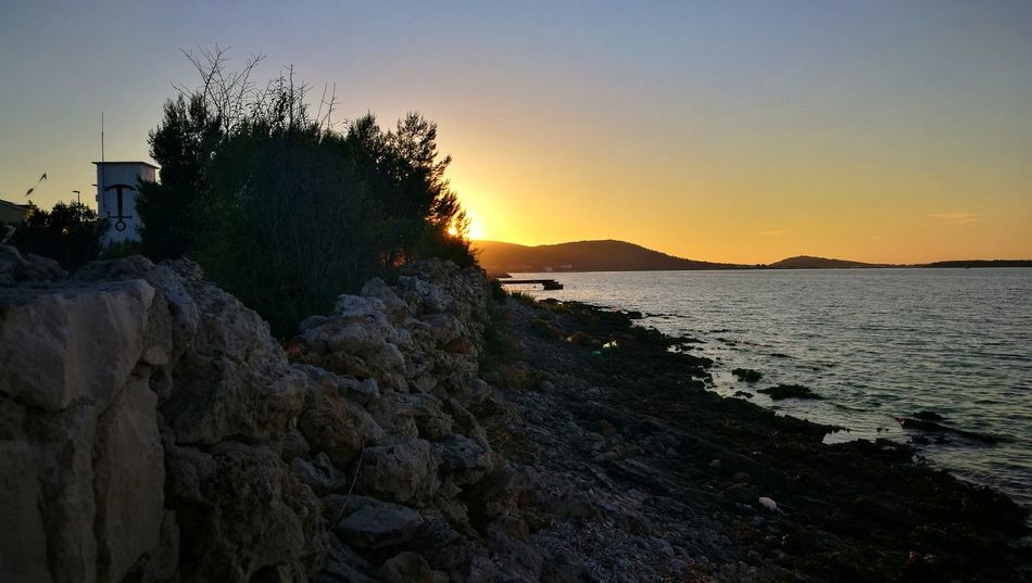 Sunset Sky Sea Nature Scenics Outdoors Beach Tranquility Travel Destinations Contrast In Nature Horizon Over Water Day Beauty In Nature Darkness And Light Sunny Side Of Life Tree Croatia Pasmanisland Pasman Island Croatian Sea HuaweiP9 Sommergefühle The Week On EyeEm