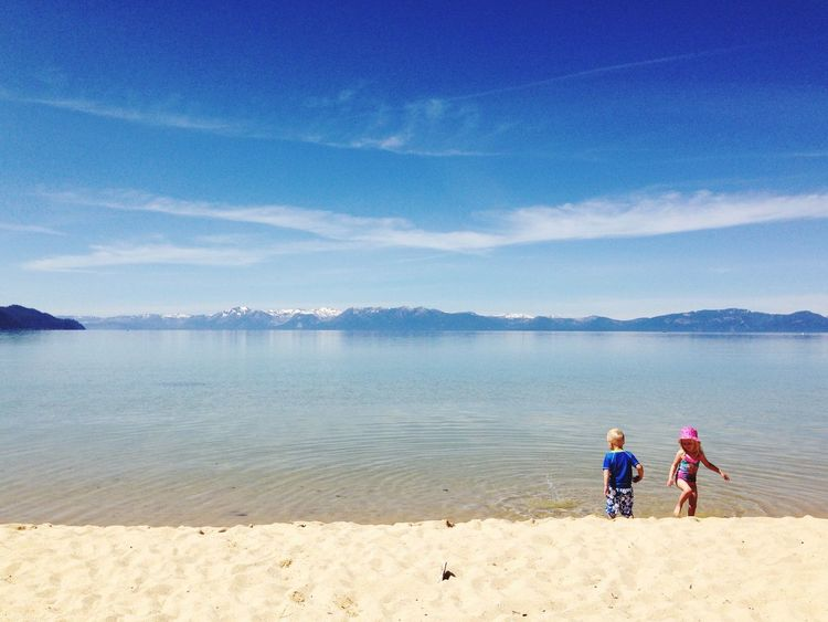 Lake Tahoe Sand Harbor Nevada United States Beach Lake Vacation Lake View Sand Kids Kids Playing Kids Playing At The Beach Childhood Fun The Essence Of Summer