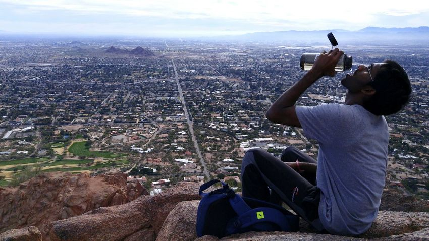The Tourist Camelback Mountain On Trial Hanging Out Hot Day
