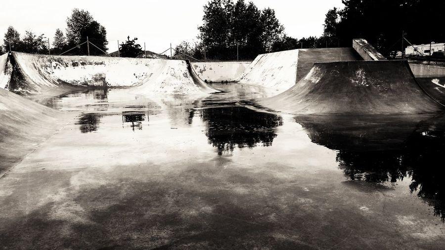 Skateboard Park 1/3 Reflection Water Rainy Day Blackandwhite Bnw Shadow And Light Bnw_life Bnw_society Bnw_planet Bnw_magazine Bnw_zone Foto_blackwhite Amateurs_bnw Fineart_photobw Fine Art Photography Artphoto_bw Sequim, WA