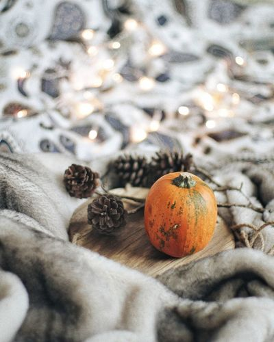 Food Indoors  Healthy Eating No People Bedroom Déco Cosy Place Decoration Home Interior Textile Still Life Photography StillLifeArt Stilllifephoto Home Sweet Home Home Decor Winter Food And Drink Autumn Colors Autumn Autumn Mood Pumpkin Plant Pumpkin Pumpkins
