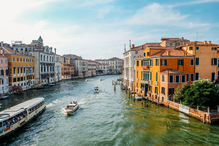 Venice landscape Italy Water Built Structure Building Exterior Architecture Nautical Vessel Transportation Canal Sky Mode Of Transportation City Nature Building Waterfront Day Cloud - Sky Outdoors Passenger Craft City Venice Italy Venice, Italy Summer Travel Cityscape City Life