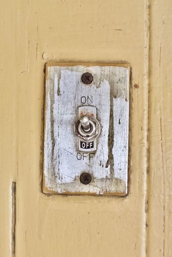 Close-Up Of Light Switch