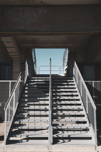 stadium entrance Stadium Entrance Stairs Metallic Structure Cement Hole Sky Architecture Built Structure Staircase Railing Steps And Staircases No People Low Angle View Building Exterior Direction Outdoors Empty Metal Absence