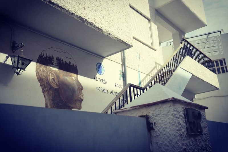 View to a step SPAIN Spanien Hope Contrast Shadows & Lights Past The Photojournalist - 2019 EyeEm Awards The Creative - 2019 EyeEm Awards Staircase Steps And Staircases Architecture Built Structure Close-up Steps Stairs Narrow Fire Escape Fire Escape