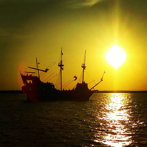 The Red Dragon Pirate Ship Gulf Of Mexico Sunset_collection