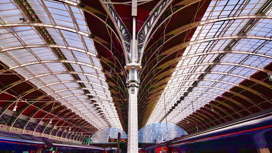 Paddington Station Built Structure Architecture No People Pattern Indoors  Low Angle View Ceiling
