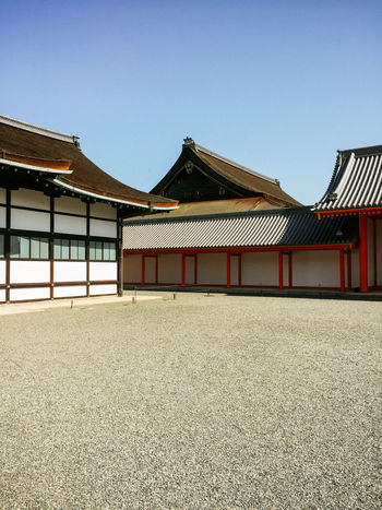 Castle Japan Architecture Building Exterior Built Structure Clear Sky Day Exterior House Kyoto No People Outdoors Palace Roof Shogun Sky