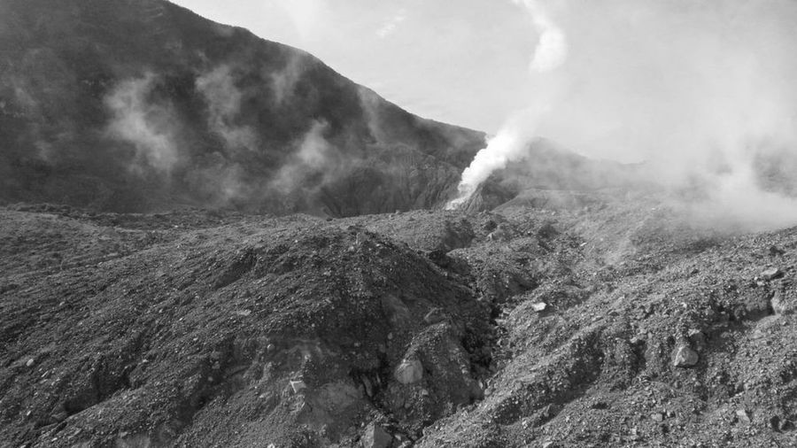 Steamy in the mount of Papandayan, West Java, Indonesia. Mountain Tranquil Scene Landscape Scenics Non-urban Scene Nature Outdoors Rocky Beauty In Nature Majestic