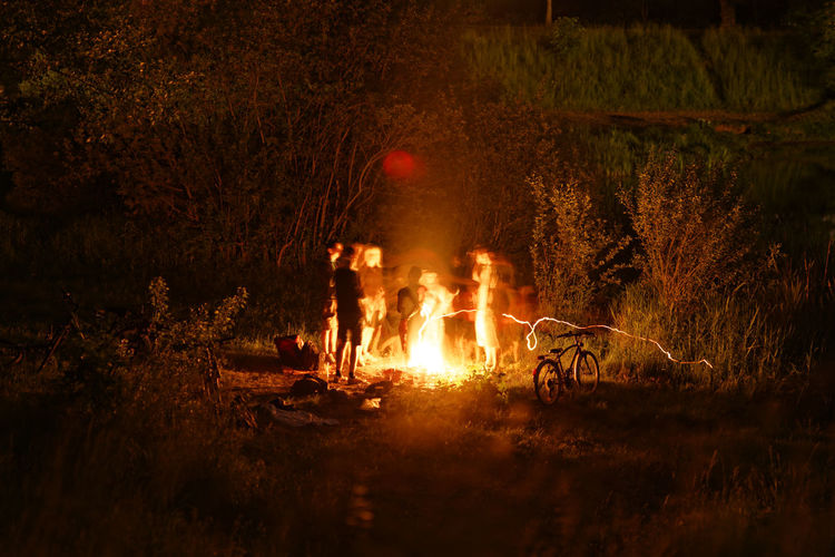 Wasserfest Thekla 2017 in Leipzig Adventure Bonfire Bonfire Bulb Burning Camp Fire Campfire Campfire Camping Flame Forest Friendship Group Group Of People Heat - Temperature Nature Night Outdoors Party People Thekla Togetherness Wasserfest Wasserfest Thekla 2017 Water