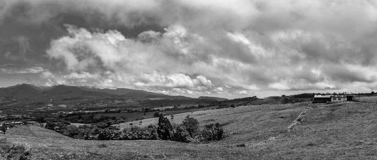 Panoramic view of the valley Beauty In Nature Black & White Black And White Blackandwhite Cloud Cloud - Sky Cloudy Costa Rica Day Landscape Mountain Mountain Range Nature Non-urban Scene Outdoor Photography Outdoors Outdorphotography Scenics Sky Tranquil Scene Tranquility
