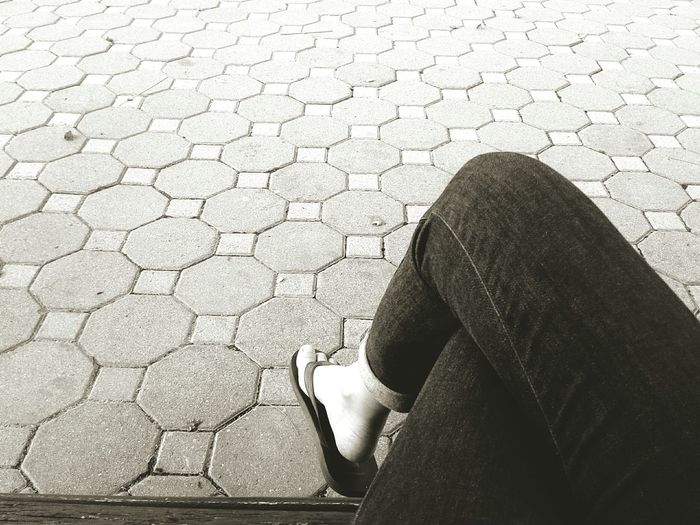 sitting on
