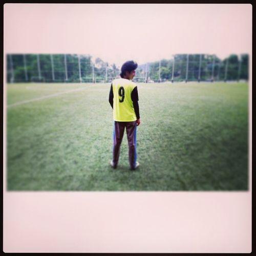 Today early evening ~ KLAF Melawati Footballer Synteticgrass grass ball 9 number football futebol sport ilovesport love green field