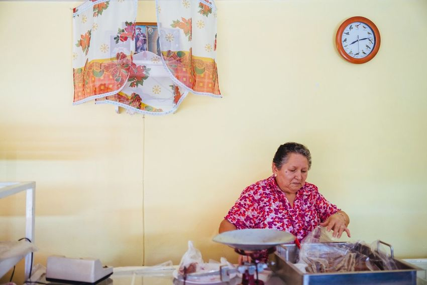 At the bakery Mexico Photography Real People Working Hard