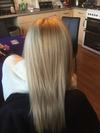 Loving these golden yet cool tones on this client Wella Blonde Cool Golden